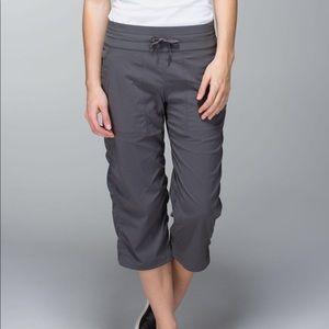 Lululemon Studio Crop Pants Soot Light Gray 6